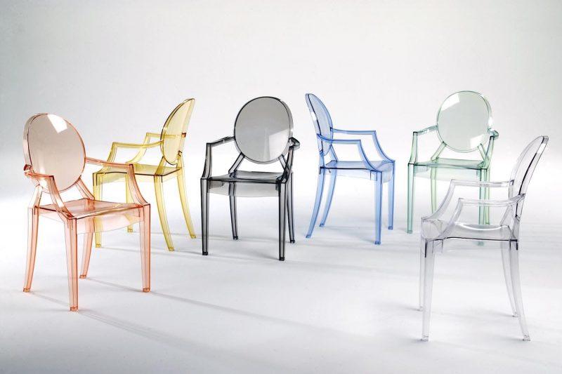 Louis Ghost Chair di Kartell, disegnata da Philippe Starck