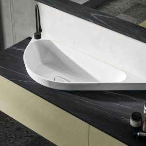 Materials for bathroom countertops: Three state-of-the-art solutions for a functional and stylish room