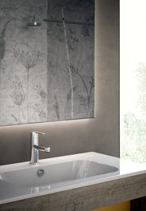 Lavabo in ceramica integrato