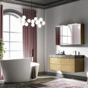 The freestanding bathtub, the key design feature