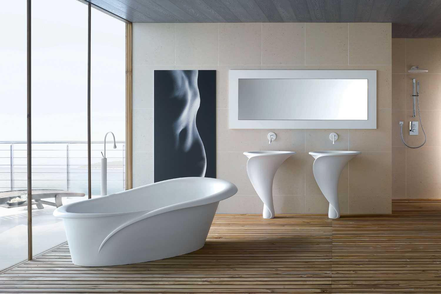 Lavabo A Colonna Design sinuous, sculpted forms among the trends at milan design