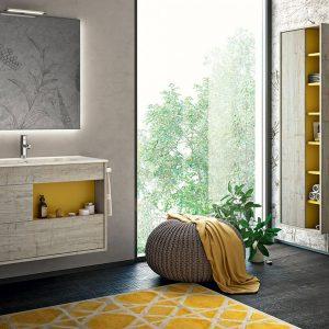 Bagno giallo, la tendenza di interior 2019