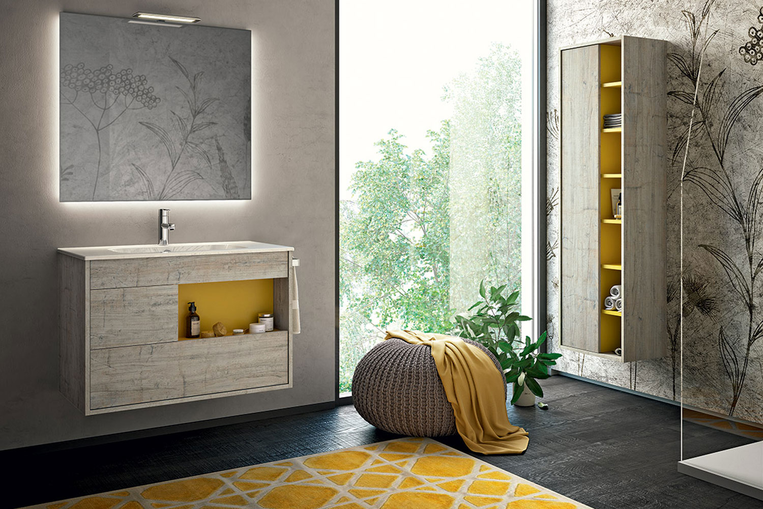 Yellow bathrooms, the interior design trend of 2019